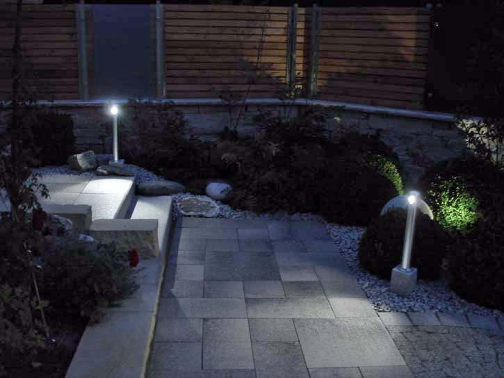 Perfect in Szene gesetzt: Gartengestaltung für Nachtschwärmer.