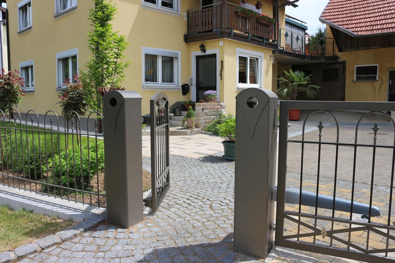 Gartenanlage in Unterlangenstadt.